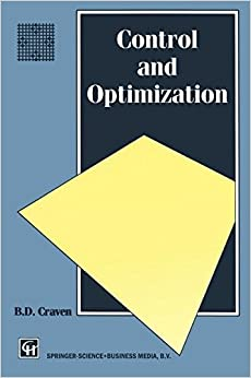 Control and Optimization (Chapman and Hall Mathematics Series)