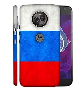 ColorKing Football Russia 05 Multicolor shell case cover for Motorola Moto X4