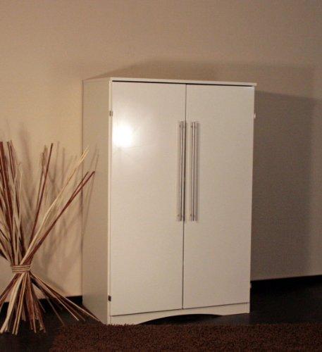 8055-2 - PC Schrank Computerschrank im Landhaus-Stil, in hochglanz weiß