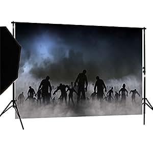 Duluda 7X5FT Halloween Zombie Horror Vinyl Photography Backdrop Customized Photo Background Studio Prop HW13A
