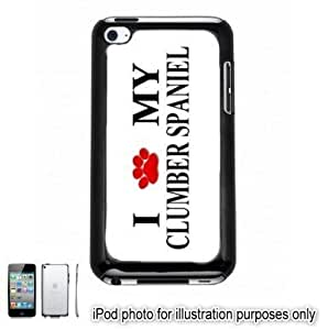Clumber Spaniel Paw Love Dog Apple iPod 4 Touch Hard Case Cover Shell Black 4th Generation