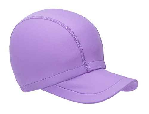 Kids Adults Packable UPF+ 50 Sun Protection Hat Beach Boat SUPing Kayaking Swimming (Large, Light Purple)