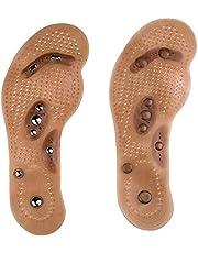 1 par de plantillas de masaje magnéticas para el cuidado de los pies, acolchadas para la suela de Acupresión, adelgazamiento