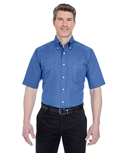 f9ce71b1f UltraClub Men's Classic Wrinkle-Free Short-Sleeve Oxford (French Blue)  (XLarge) - Buy Online in Oman. | Apparel Products in Oman - See Prices,  Reviews and ...