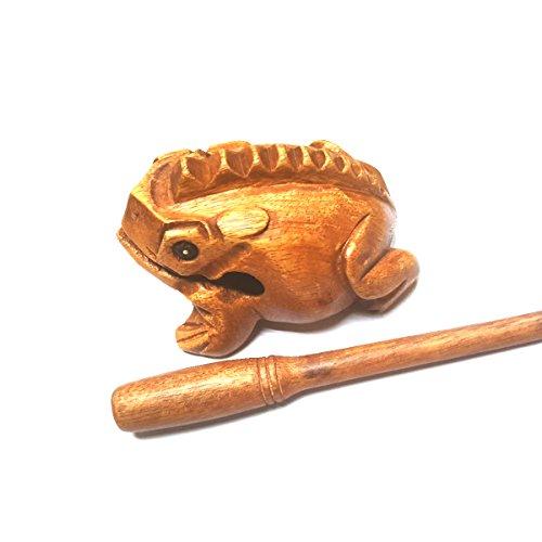 Wood Frog Guiro Rasp Wooden Handcraft Musical Instrument Tone Block World Percussion USA Medium 4 Inch Wood Toy