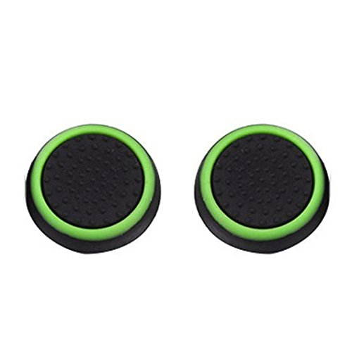 Price comparison product image DZT1968 1 Pairs high-density Luminous Silicone Gel Anti-sweat Thumb Grips Caps For Nintendo Switch Controller (B)