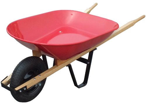 Red Steel Tray Wheelbarrow