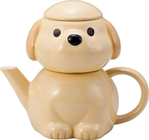 Sun Art Brown Dog Tea for one.Tea cup and tea pot set SAN2266