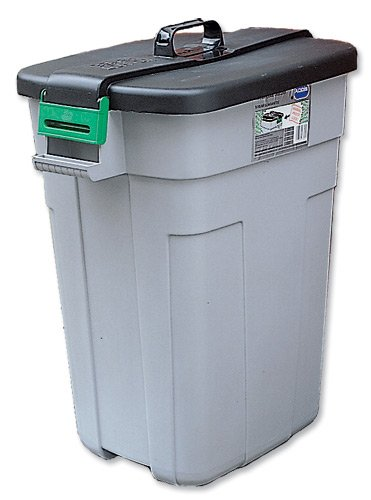 Addis Supertough Dustbin Polypropylene with Easy-grip Handle 610x425x755mm  90 Litres Ref 9769GRY (9769GRY)
