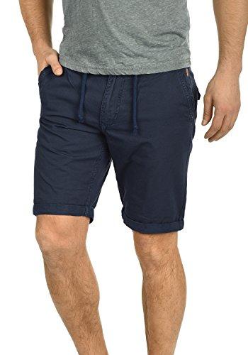 100 Pantalones Hombre Algodón Regular Tela Pantalón Claudio Blend De Para Bermuda Navy Chino Corto 70230 fit qEwSFyFXv