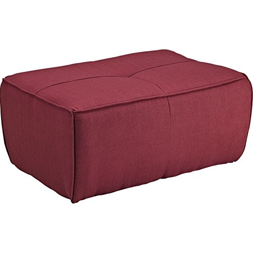 Modway Align Upholstered Ottoman, Berry