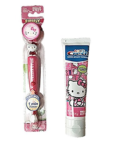 Hello Kitty Light up Toothbrush and Timer with Crest Hello K