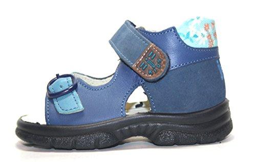 Jela , Sandales pour fille Bleu ocean/platin 20