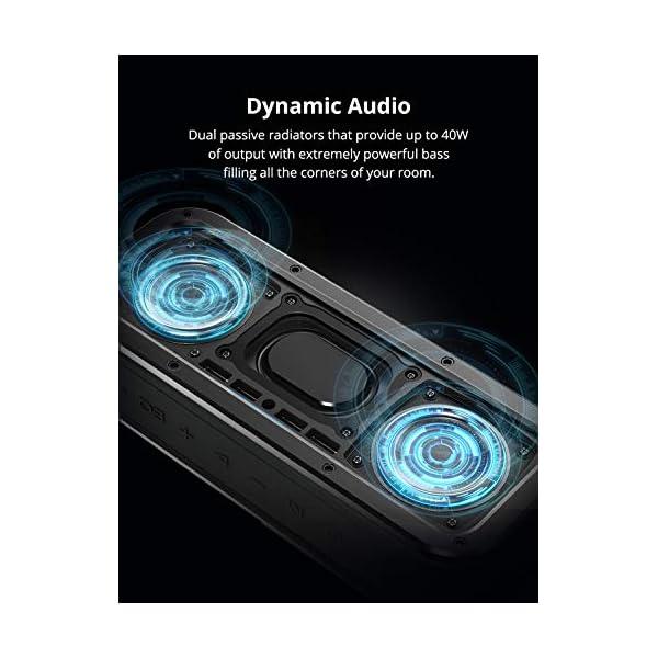 Haut-Parleur Bluetooth Enceinte sans Fil 40W, Tronsmart Force Speaker Waterproof Portable, étanche IPX7, Autonomie 15H, Technologie NFC & TWS,Compatibilité Android, Smartphone,Ordinateur 2