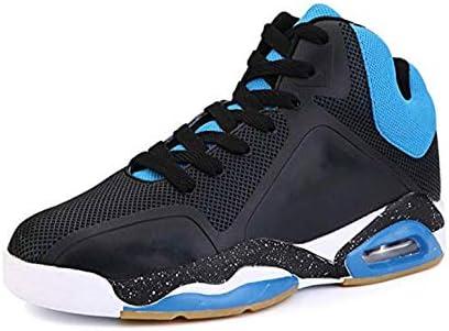 FJJLOVE Zapatillas de Baloncesto para Hombres, amortiguación de Aire de Moda Absorción de Golpes Zapatillas Deportivas cómodas Zapatillas de Tenis Deportivas para Correr,Negro,41: Amazon.es: Hogar