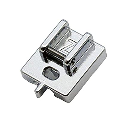 Alfa Prensatelas para cremallera invisible, accesorio para máquina de coser, acero inoxidable