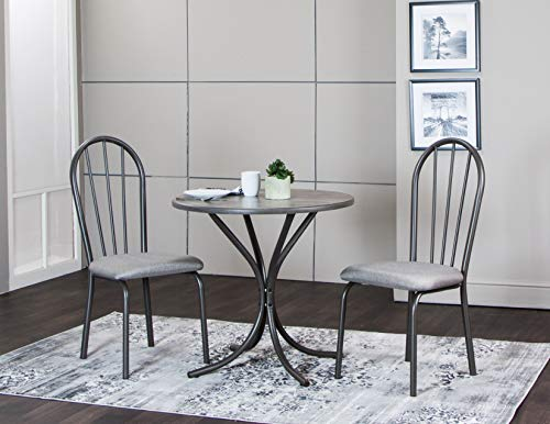 Sunset Trading CR-D8719-59-3PC Steel Gray Dining Set, Small, One Size, Grey ()