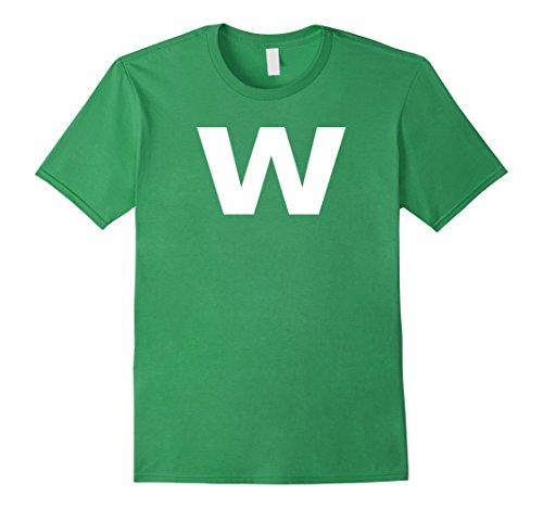 W Letter Costumes Halloween (Mens Letter W Group Halloween Costume Cute & Funny Tshirt XL)