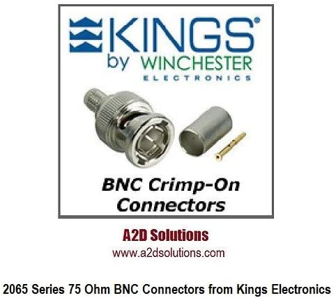 KINGS 2065-10-9 BNC Crimp-On Plugs for Belden 1694A /&1695A Cable