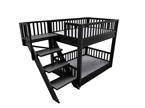 ECOFLEX Dog Bunk Bed with Removable Cushions – Espresso