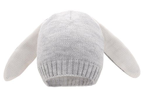 inter Bunny Hat Knit Rabbit Beanie Cap for Baby (6-12 Month, Gray) ()