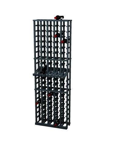 Wine Cellar Innovations Traditional Premium Redwood 5 Column Wine Rack with Display Row, Midnight Black, Stained by Wine Cellar Innovation