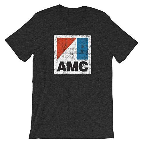 Bygone Brand AMC American Motors Corporation Short-Sleeve Unisex T-Shirt - Retro Car Tees Gray XL
