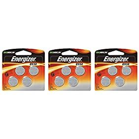 Energizer 2032 CJDMv Battery, 4 Count (3 Pack)