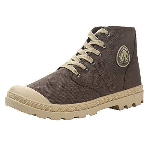 Respctful_shoes for Men Fashion High Top Sport Sneakers Casual Outdoor Athletic Running Sneaker Boot Brown