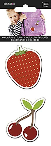 Trends International Cherries & Strawberry - Embroidered Stickers