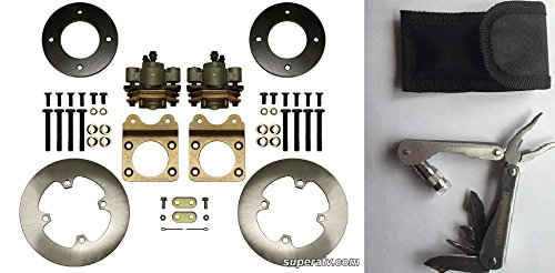 Bundle 2 items: SuperATV Front Disc Brake Conversion Kit For Honda ATV With 12 Inch Rims and FREE Unhinged ATV Multi-Tool