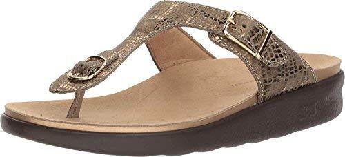 SAS Women's, Sanibel Thong Sandal, Olive Gold, Size - Small Form Sas