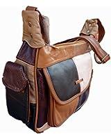 Leather Ladies Handbag Patchwork Soft Leather Shoulder Bag 2282