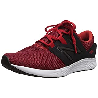 New Balance Men's Fresh Foam Vero Racer V1 Running Shoe, Velocity Red/Black, 10.5 M US
