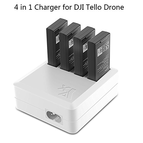 JointVictory 4 in 1 Parallel Multi Battery Rapid Charger Hub RC Intelligent Fast Charging for DJI Tello Drone (US Plug)