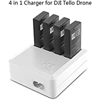 JointVictory 4 in 1 Parallel Multi Battery Rapid Charger Hub RC Intelligent Fast Charging for DJI Tello Drone (UK Plug)
