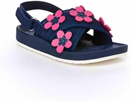 341c8f235ff Carter s Girl s Felicia Flower Embellished Sandal with Adjustable Strap