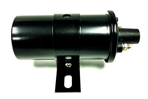 BLACK 40,000 Volt Ignition Coil 12 Volt Street Hot Rat Rod HEI GM Ford V8 Muscle (40000 Volt Coil)