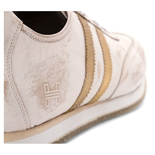 Hardy Mens Malik Mode Sneakers Vit / Guld