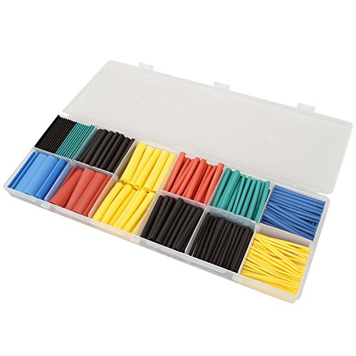 3 Mm Thick Tube (Qadira 280Pcs 2:1 Heat Shrink Tubing Tube Sleeving Wrap Cable Wire 5 Color 8 Size)