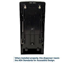 Kimberly-Clark Professional 09021 Coreless Double Roll Bath Tissue Dispenser, 6 6/10 x 6 x13 6/10, Plastic, Smoke
