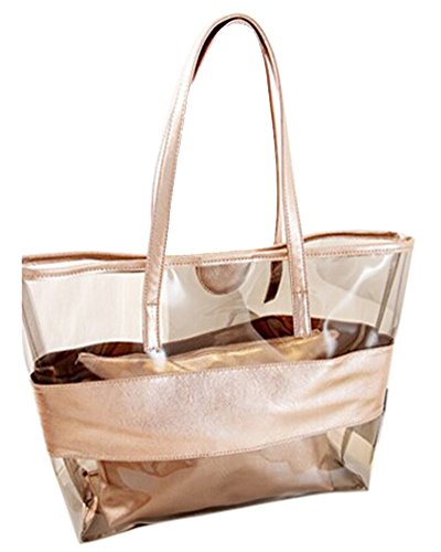 zicac-waterproof-semi-clear-tote-bags-stripe-pvc-shoulder-bag-with-pouch-champagne