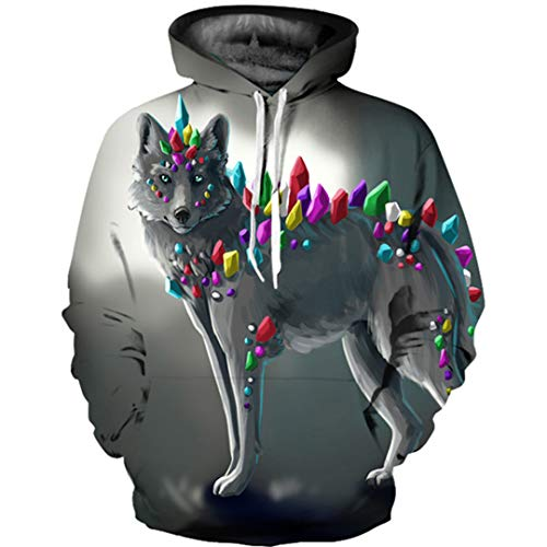 Used, Men/Women Sweatshirt Printed Hoodie 3D Wolf Hoodies for sale  Delivered anywhere in USA