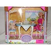 1999 Barbie Doll Tea Time, un juego de regalo con sus amigas, lil bear y un conejito acogedor.