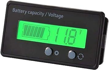 12//24//36//48V Acid Lead Lithium Battery Capacity Indikator 6-63V LCD Voltmeter