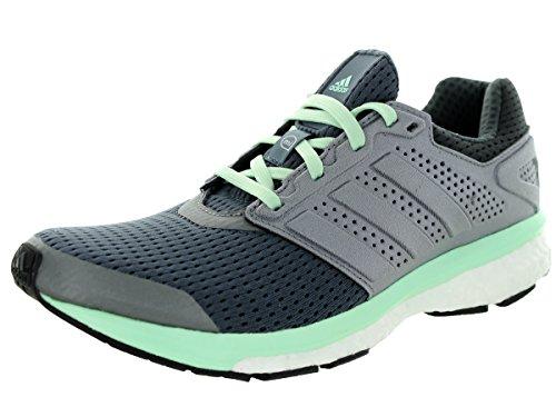 Scarpa Sneaker Adidas Supernova Glide Boost - Donna Onice / Ferro / Verde