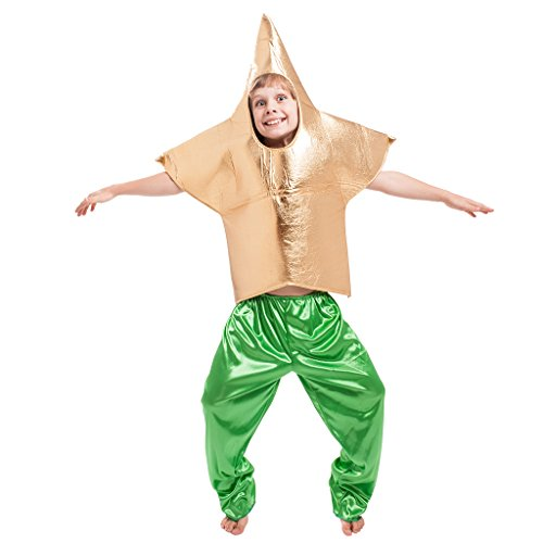 EraSpooky Kids Halloween Golden Star Costume, -