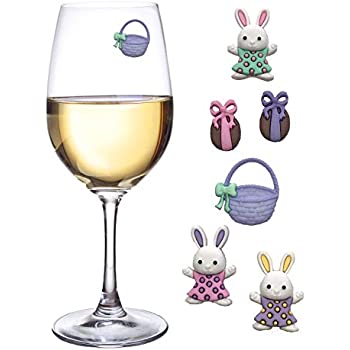 Great Way to Personalize Stemless Glasses Simply Charmed Magnetic Wine Charms Set of 6 Bird Glass Markers to Identify Your Drink