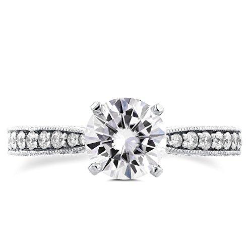 Forever Antique Brillant & Diamant Bague de Fiançailles en Or 911/4Outlet-en or blanc 14K _ 4.0
