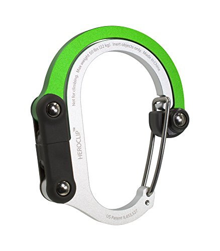 Lulabop Qliplet/Qlipter Carabiner Hanger with Rotating Folding Hook - Strong Clip for Camping, Travel; Adventure Tool; Sports Accessory; Organizing Gadget; Baby Gear